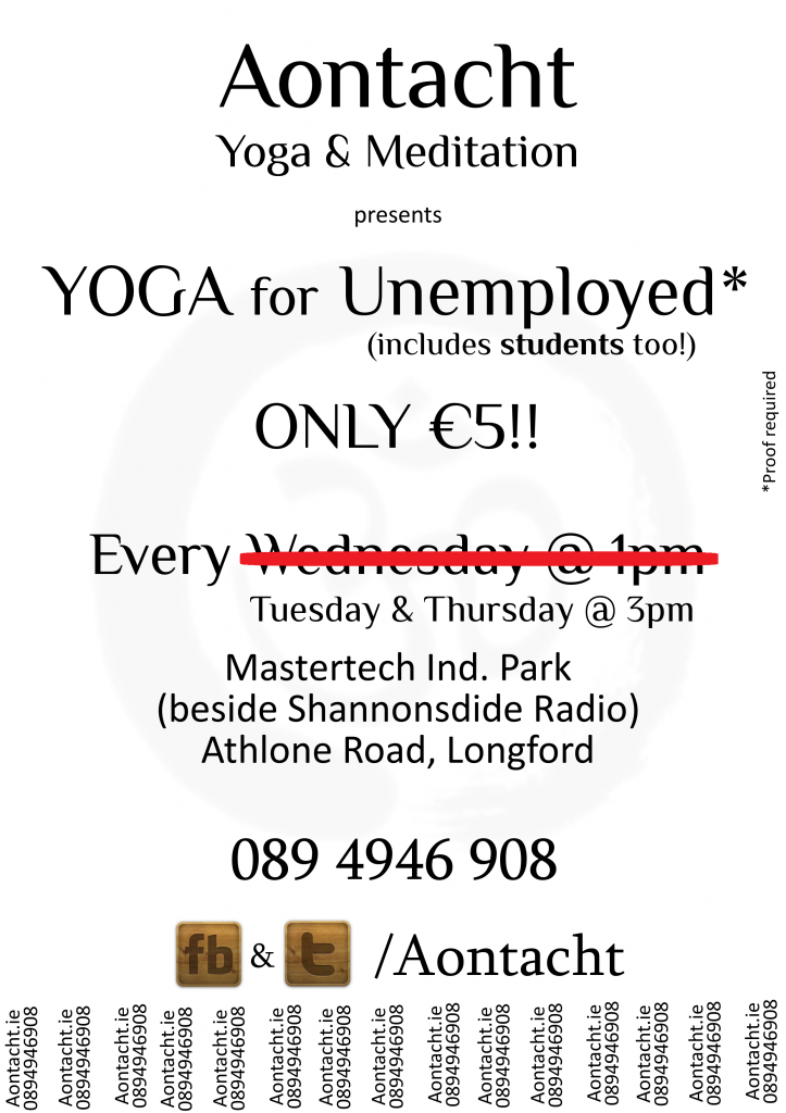 Yoga for Unemployed Longford Ireland