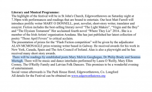 Maria Edgeworth Literary Festival 2015 - Seamus Murtagh
