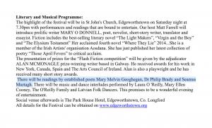 Maria Edgeworth Literary Festival 2015 - Seamus Murtagh