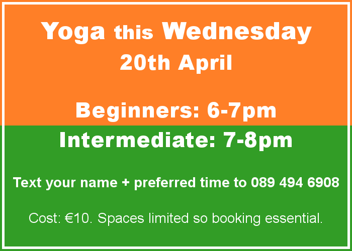 Aontacht Yoga Longford Ireland Wednesday April 2016